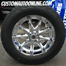 20x9 XD Badlands 779 Chrome - 275/60r20 Cooper Discoverer AT3
