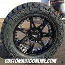 20x9 Moto Metal 961 Black - LT295/55r20 Nitto Trail Grappler
