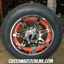 18x9 Moto Metal 961 Chrome - 255/55r18 Nitto Terra Grappler G2