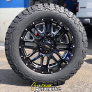 20x9 Ultra Hunter 203 Gloss Black and Machined - LT275/60r20 BFGoodrich All Terrain KO2