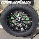 20x9 XD Hoss 795 Black/Machined - LT305/55r20 Nitto Terra Grappler