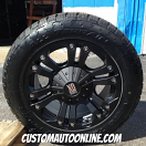 18x9 KMC XD Monster 778 Black - 255/55r18 Nitto Terra Grappler