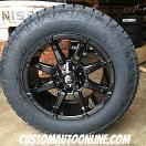 20x9 Fuel Coupler D575 Gloss Black - LT275/65r20 Nitto Terra Grappler G2
