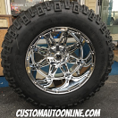 20x14 Fuel Hostage D530 Chrome - 36x15.50r20 Mickey Thompson MTZ P3