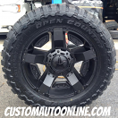 20x9 XD Rockstar II RS 2 811 Black - 33x12.50r20 Toyo Open Country MT
