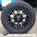 20x10 Fuel Krank D517 Black/Milled - 35x12.50r20 Nitto Trail Grappler