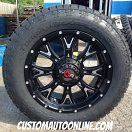 20x9 Worx 805 Tyrant Black and Milled - 275/60r20 Nitto Terra Grappler G2