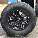 17x9 Ultra Hunter 203 Black - 285/70r17 Nitto Ridge Grappler