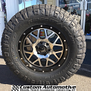 18x9 XD Grenade 820 Black and Machined - LT295/70r18 Nitto Ridge Grappler