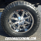 20x10 Fuel Nutz d540 PVD Chrome - 35x12.50r20 Nitto Terra Grappler G2