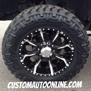 20x10 Helo Maxx 8 HE791 Black - 35x12.50r20 Nitto Trail Grappler