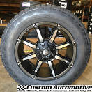 20x9 Fuel Coupler D556 Black with Dark Tint Machined - 275/60r20 Nitto Terra Grappler G2