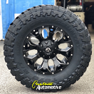 18x9 Fuel Assault D546 Black and Milled - 35x12.50r18 Toyo Open Country MT