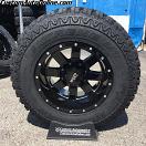 17x10 Moto Metal MO962 Black - LT285/70r17 Mud Claw Extreme MT