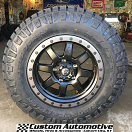 18x9 Fuel Trophy D551 Black with Anthracite Beadlock - LT275/70r18 Nitto Ridge Grappler