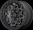 KMC Trek 545 - Satin Black and dark tint Machined