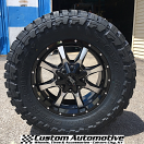 18x9 Moto Metal MO970 Black and Machined - 33x12.50r18 Toyo Open Country MT