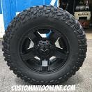 18x9 XD Rockstar II 811 RS 2 Black - LT295/70r18 Cooper Discoverer STT Pro