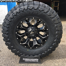 17x9 Fuel Offroad Assault D546 Black and Milled - 35x12.50r17 Toyo Open Country MT