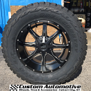 20x10 Moto Metal MO970 Satin Black and Milled - 35x13.50r20 Toyo Open Country R/T