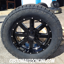 20x9 Moto Metal 962 Black - LT305/55r20 Nitto Terra Grappler G2