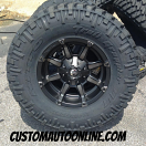 17x9 Fuel Offroad D556 Coupler Black and Dark Tint Machined - LT315/70r17 Nitto Trail Grappler