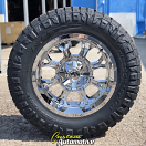 20x10 Fuel Offroad Krank D516 Chrome - 35x12.50r20 Nitto Ridge Grappler