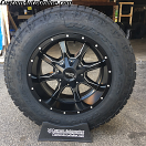 18x10 Moto Metal MO970 Black and Milled - LT275/65r18 Nitto Terra Grappler G2