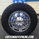 18x9 Fuel Hostage D530 Chrome - LT285/65r18 Nitto Trail Grappler