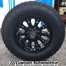 18x9 KMC XD Misfit 800 Black - LT285/65r18 Nitto Terra Grappler G2