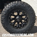 17x9 Fuel Offroad Assault D546 Black and Milled - 35x12.50r17 Nitto Trail Grappler