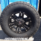 18x9 XD Monster 2 822 Black - LT305/65r18 Nitto Terra Grappler G2