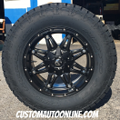 18x9 Fuel Hostage D531 Black - LT285/65r18 Nitto Terra Grappler G2