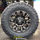 17x9 Fuel Offroad Vapor D569 Black with Dark Tint - LT285/70r17 Nitto Trail Grappler (10 ply)