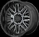 Moto Metal MO802 - Gloss Black Machined and Gray tint