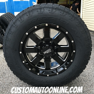 18x9 Moto Metal MO962 Black - 275/65r18 Nitto Terra Grappler G2