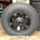 17x9 XD Rockstar II RS 2 811 Black - 285/70r17 Nitto Terra Grappler G2