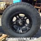 17x9 XD Crank 801 Black - LT285/75r17 Nitto Terra Grappler G2