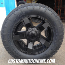 20x9 XD Rockstar II RS2 811 Black - LT295/60r20 Nitto Terra Grappler G2