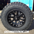 18x9 KMC XD Addict 798 Black - LT285/75r18 Nitto Trail Grappler