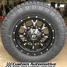 18x9 Fuel Krank D517 Black - 285/60r18 Toyo Open Country ATII