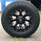 17x8.5 Fuel Assault D546 Black wheel - 285/70r17 Nitto Ridge Grappler