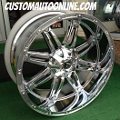 24x11 Fuel Hostage D530 Chrome - 38x13.50r24 Nitto Trail Grappler