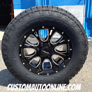 18x9 Helo HE879 Black - LT285/65r18 Nitto Terra Grappler G2