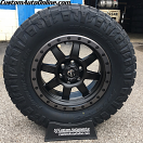 18x9 Fuel Trophy D551 Black with Anthracite Beadlock - 33x12.50r18 Nitto Ridge Grappler